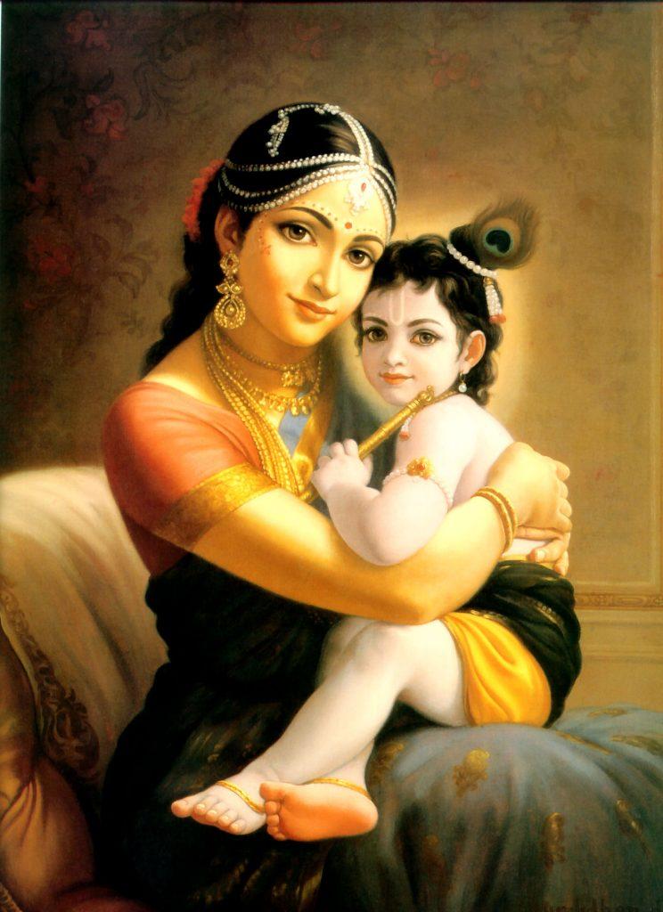 Картина Яшода и Кришна