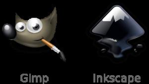 Логотипы Gimp и Inkscape