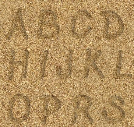Буквы на песке